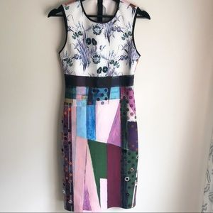 Clover Canyon Colorful Dress with Grommets
